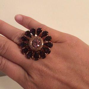 Coach Crystal flower ring